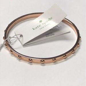 Kate Spade Rose Gold studded bracelet